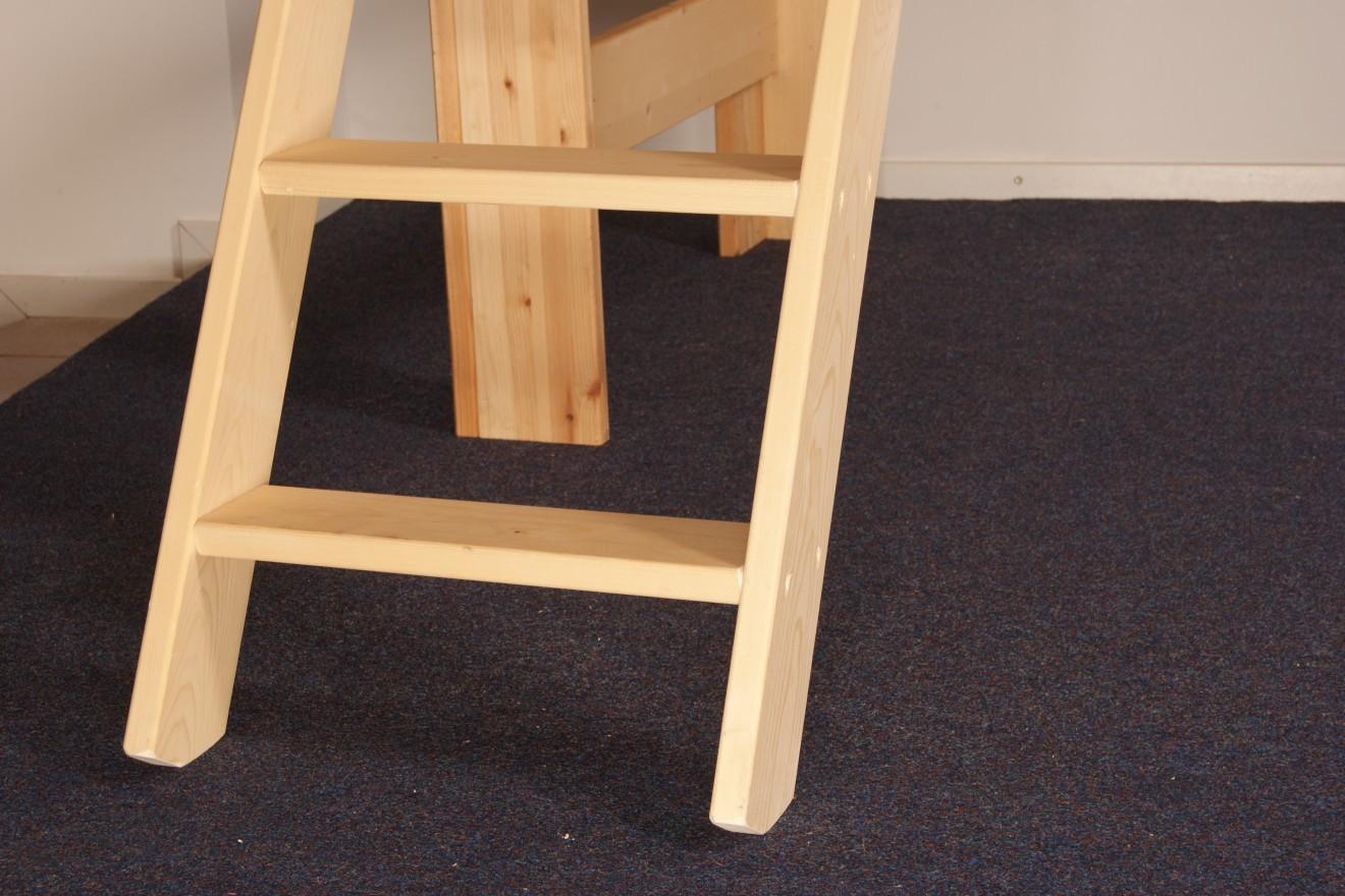 4 persoons bedden 4 persoons stapelbed harry met opbergladen blankhouten meubels - Stapelbed met opslag trappen ...