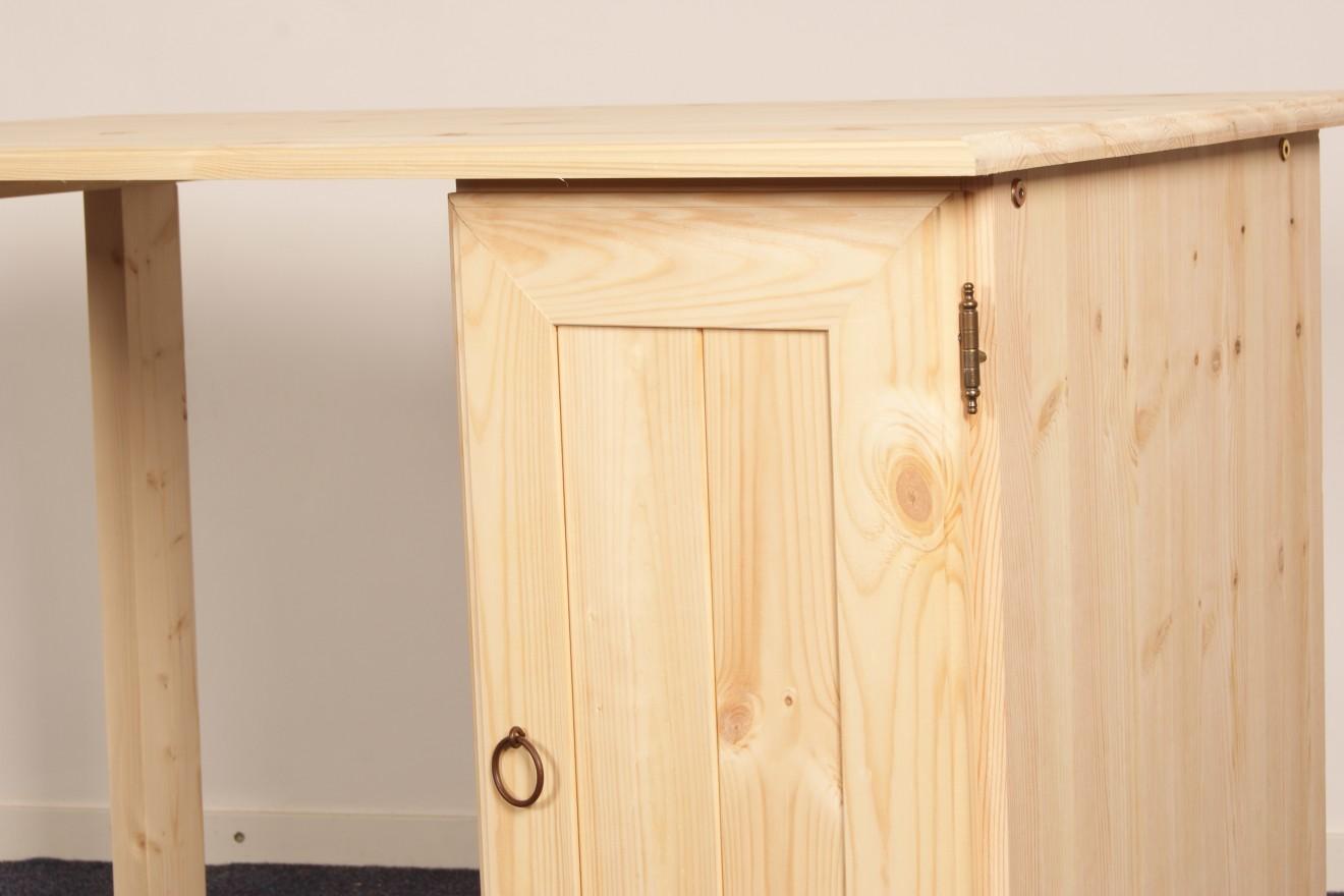 Enkel kastje kees deur smal blankhouten meubels for Grenen ladeblok