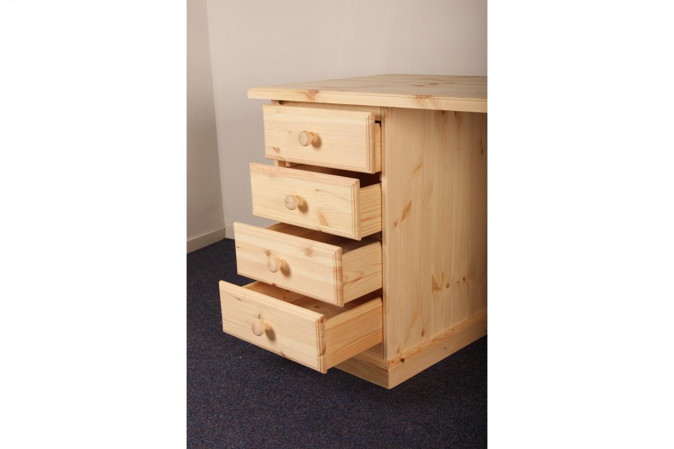 enkel kastje bureau malta klein blankhouten meubels