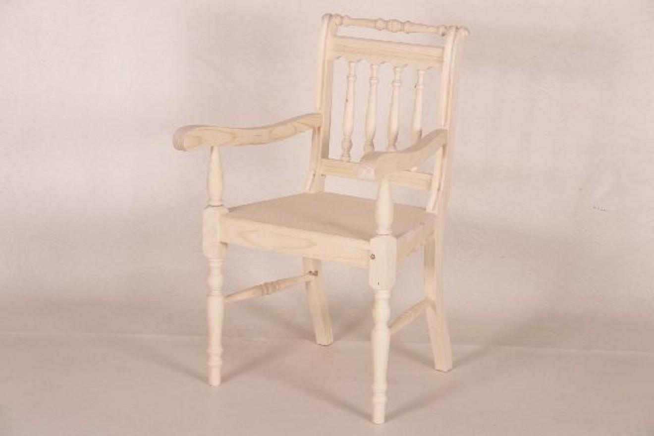 Eetkamerstoelen stoel otto met armleuning blankhouten meubels