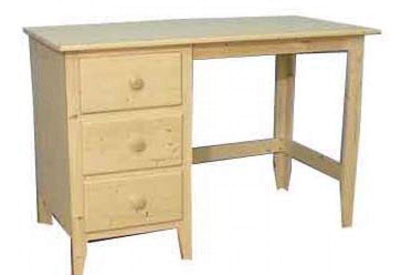 Enkel kastje bureaus blankhouten meubels for Grenen ladeblok