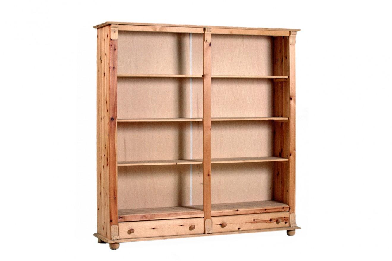 Boekenkasten boekenkast starko 185 met lade blankhouten meubels