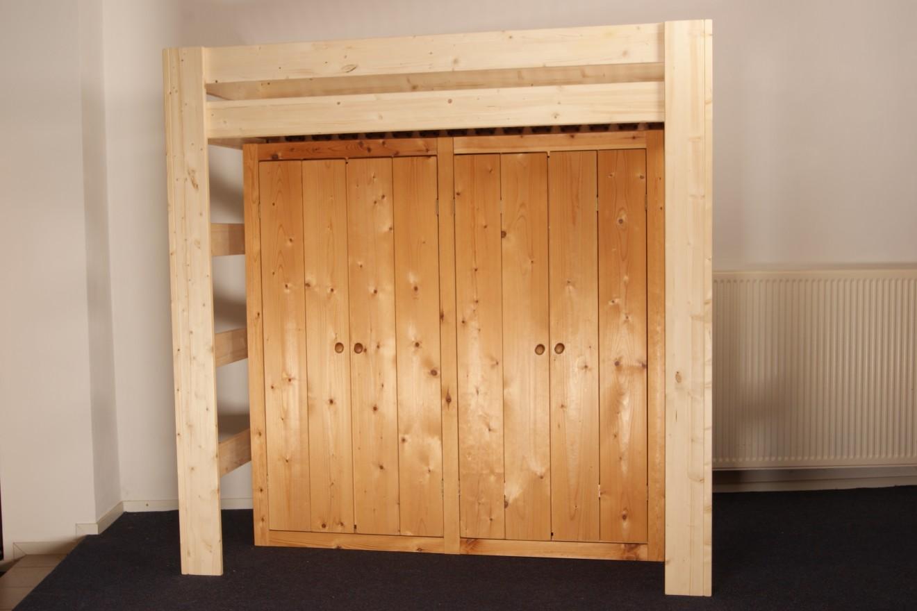 Hoogslaper Met Kast : Hoogslapers harry hoogslaper met deurs kast blankhouten meubels