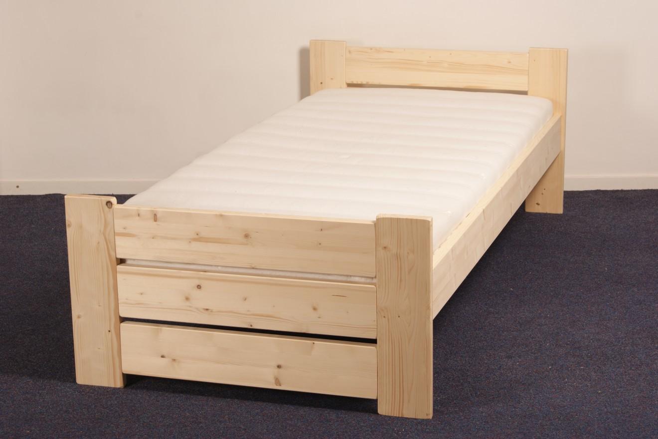 1-persoons bedden - 1-Persoonsbed Bertus - Blankhouten Meubels