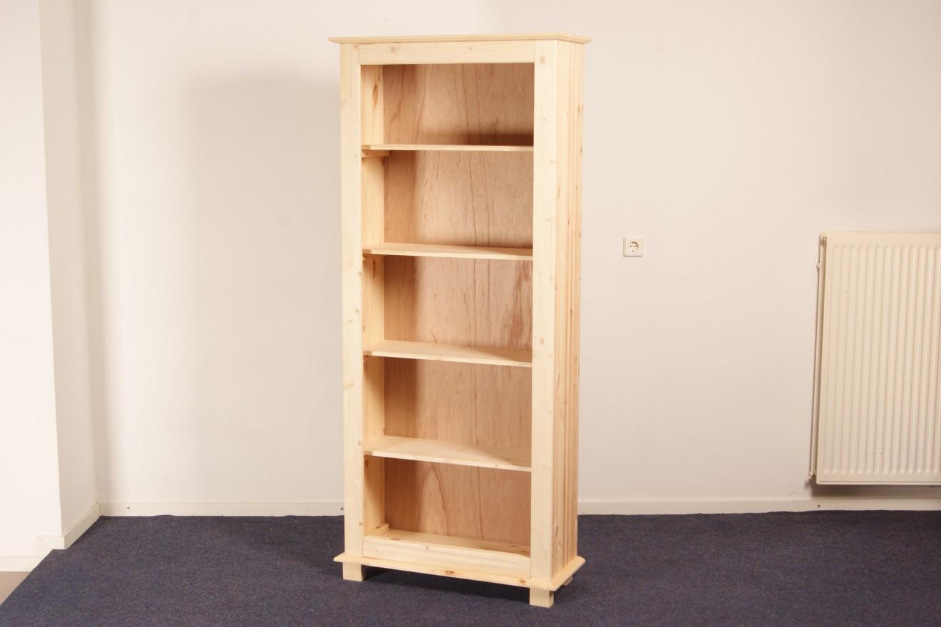 Boekenkasten - Boekenkast Starko 81 t/m 120cm breed - Blankhouten ...