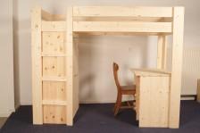 Hoogslaper Met Kastruimte : Hoogslapers bedden blankhouten meubels