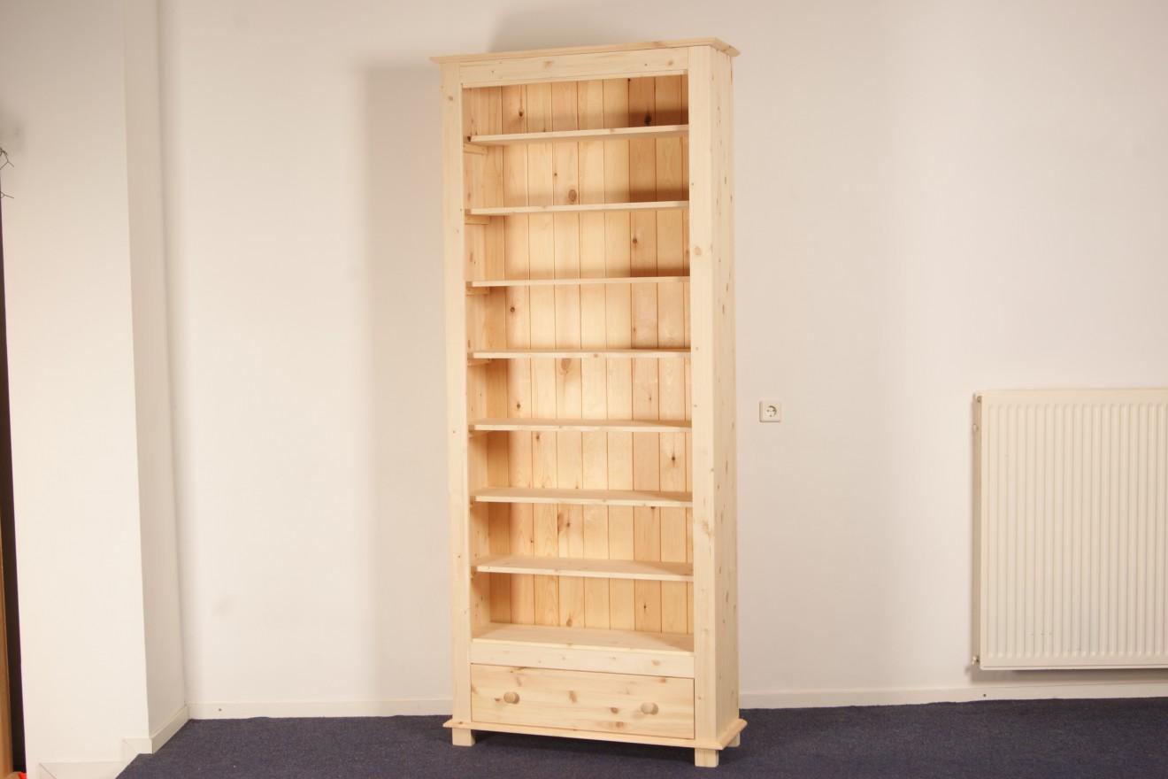 Boekenkasten - Boekenkast Starko 100 met lade - Blankhouten Meubels
