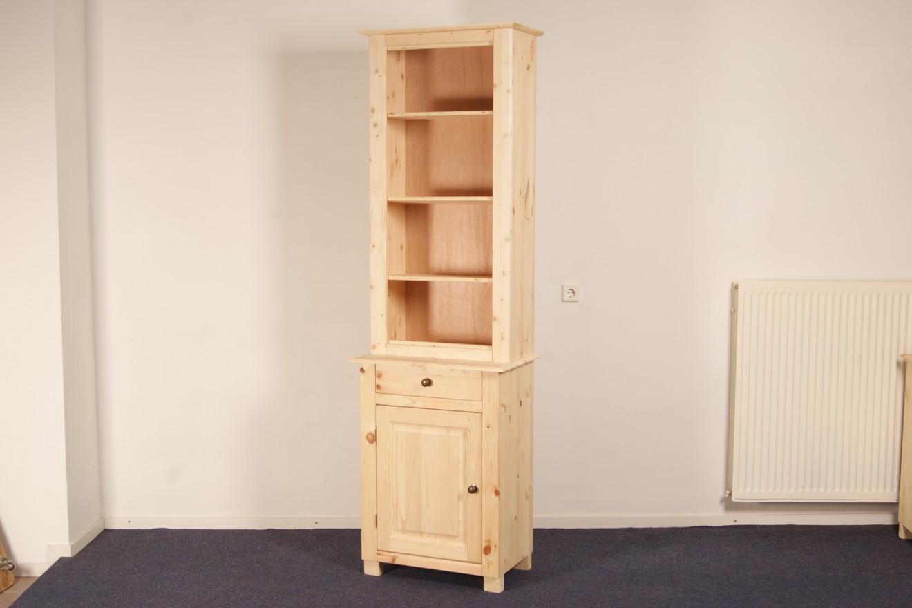 Boekenkasten - Boekenkast Starko MIX smal - Blankhouten Meubels