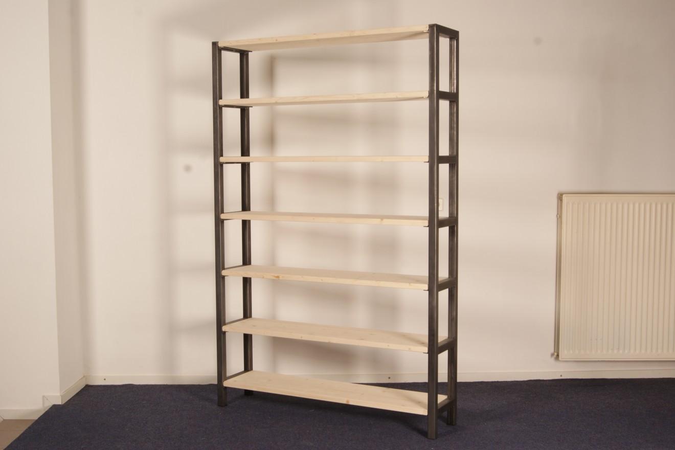 Boekenkasten - Boekenkast Sterk Staaltje - Blankhouten Meubels