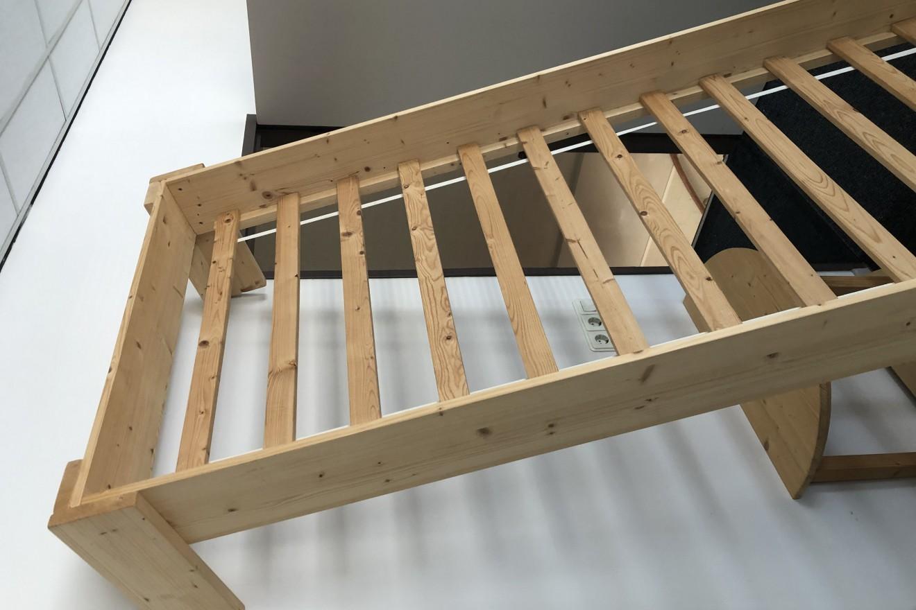 Matras 1 Persoons : 1 persoons bedden bed harry met bodem & matras blankhouten meubels